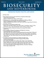 Biosecurity and Bioterrorism journal cover