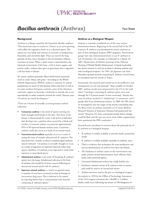 Image of agent fact sheet PDF: Bacillus Anthracis (Anthrax)