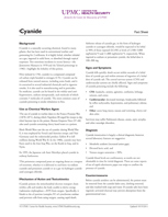 Image of agent fact sheet PDF: Cyanide