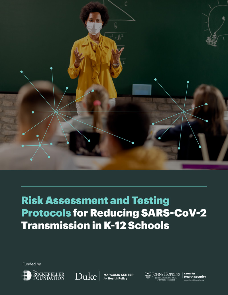 Risk Assessment and Testing Protocols for Reducing SARS-CoV-2 Transmission in K-12 Schools cover
