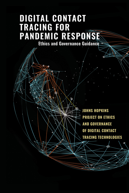 Digital Contact Tracing for Pandemic Response: Ethics and Governance Guidance book cover