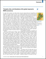 Triumphs, Trials, and Tribulations of the Global Response to MERS Coronavirus cover