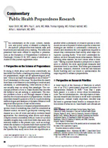 Image of article PDF: Public Health Preparedness Research