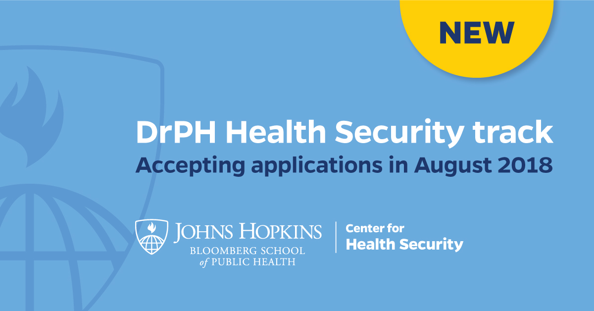 DrPH Health Security Track banner