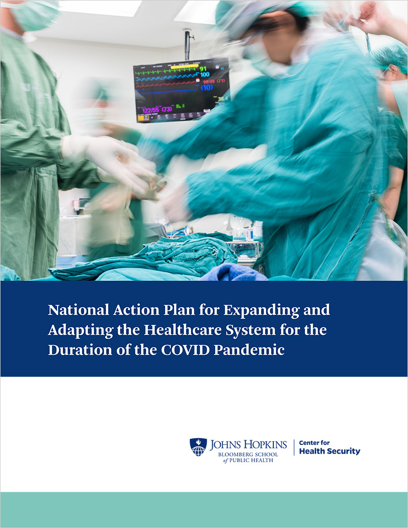 National Action Plan for Expanding and Adapting the Healthcare System for the Duration of the COVID Pandemic: cover