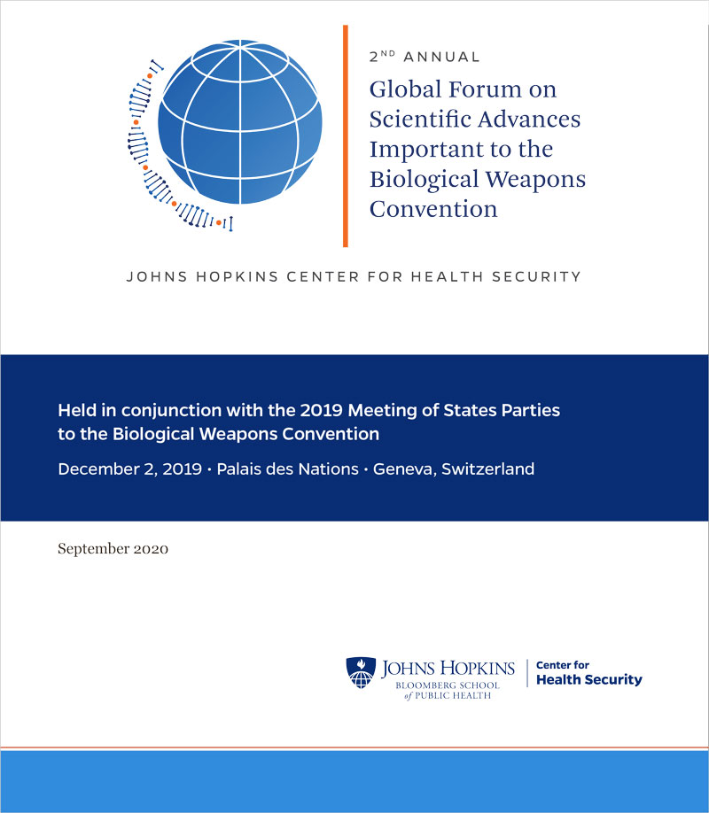 2nd Annual Global Forum on Scientific Advances Important to the Biological Weapons Convention report cover