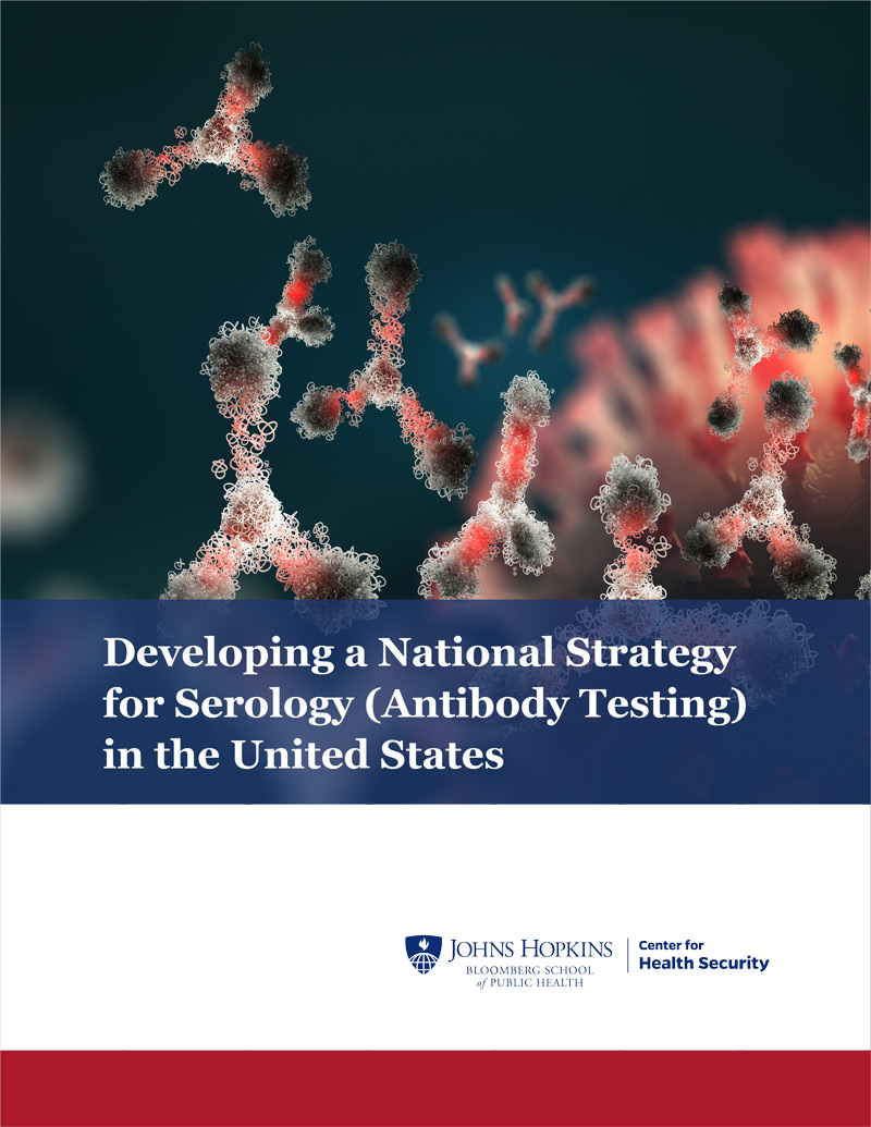 Cover: Developing a National Strategy for Serology (Antibody Testing) in the United States