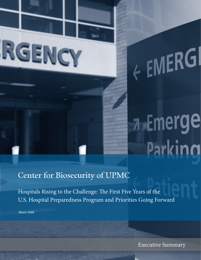 Hospitals Rising to the Challenge: The First Five Years of the U.S. Hospital Preparedness Program and Priorities Going Forward report cover